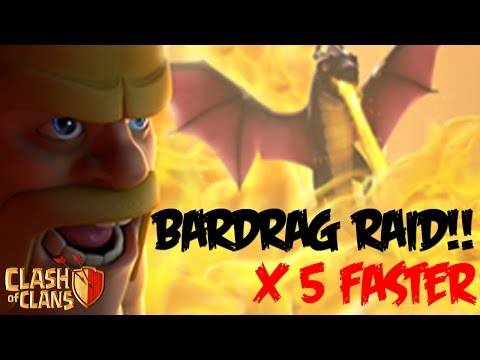 Clash of Clans: BARDRAG ATTACK?! Make Barbarians and Dragon 5x Faster! Latest Update