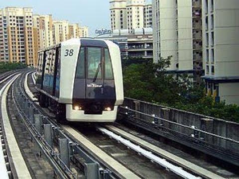 Fabulous Singapore Light Rail Fully Automated LRT System