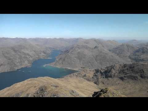 On top of the World: Ladhar Bheinn looking down to Loch Hourn, Knoydart