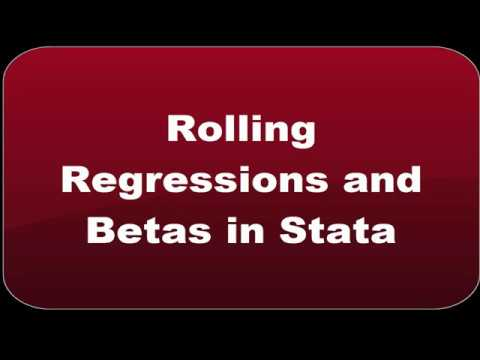Rolling Window Regression | Fastest Rolling Betas | Stata