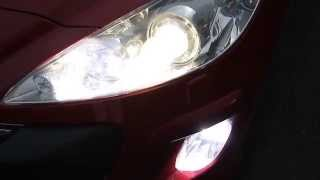 Лампа светодиодная в ПТФ H8-40W-CREE(Установленная светодиодная лампа H8 40W в Peugeot 308 Лампы светодиодные H8-40W-CREE предназначены для установки на..., 2013-09-12T07:57:42.000Z)