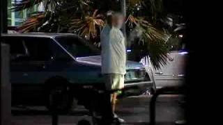 cops shoot a drunk criminal with pepper spray pellets he feels nothing until it is below the belt