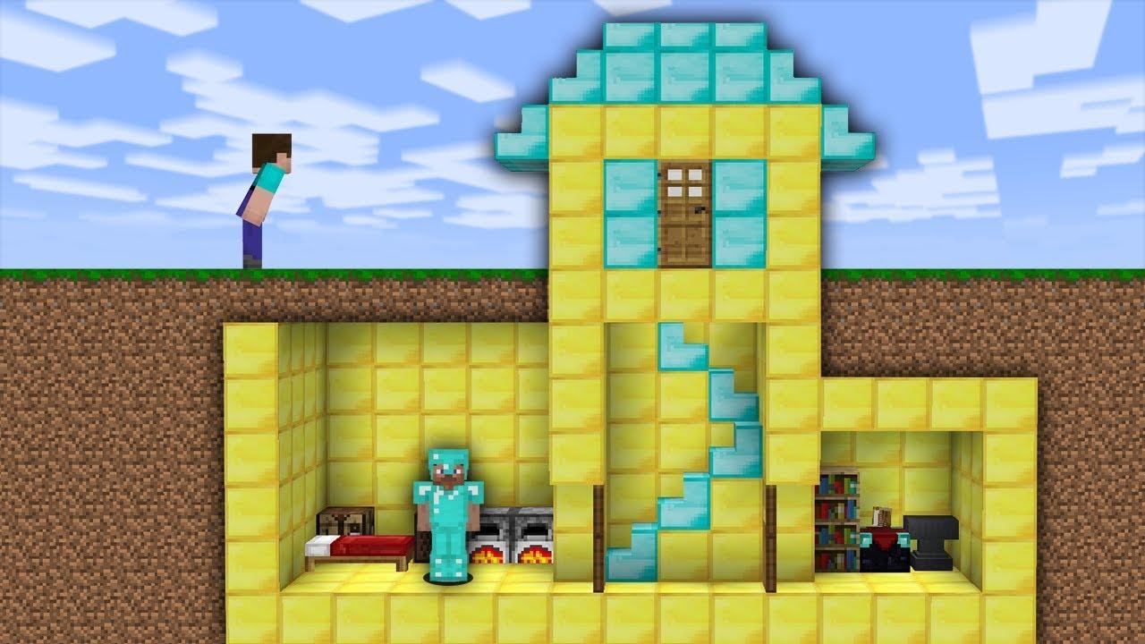 Minecraft House Noob Vs Pro Vs Hacker Gambleh 5