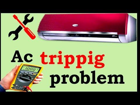 ac repair in hindi urdu /tripping problem with english subtitle