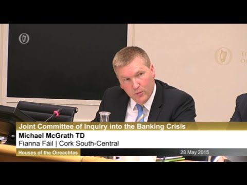 McGrath questions former Financial Regulator at Banking Inqu
