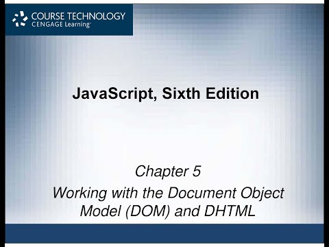 Working With The Document Object Model (DOM) & DHTML