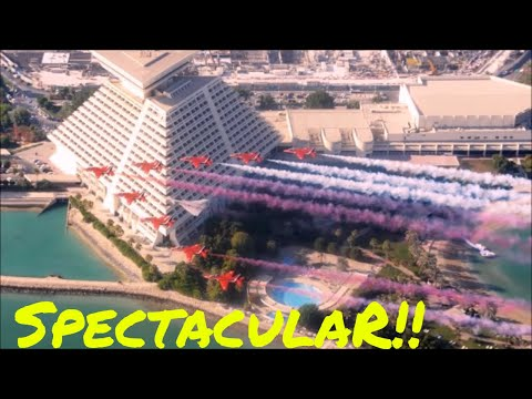 Amazing RAF Red Arrows Air show Qatar | Top Travel Destination in the World | September 30 2017