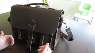 Saddleback Leather Front Pocket Briefcase - Dark Coffee Brown Review - Dave