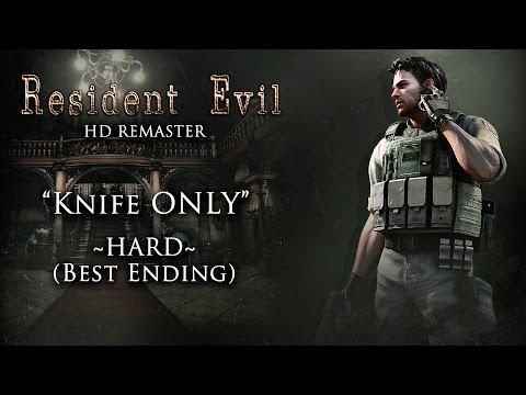 ☣ Resident Evil HD Remaster - Chris (BSAA) Knife ONLY / Hard (Best Ending) HD