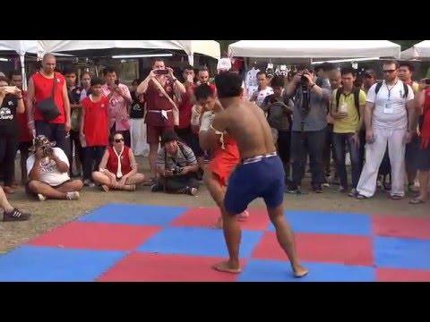 Muay Thai basic fight demonstration