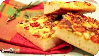 Pizza A La Focaccia | Sweet & Easy - Enie Backt