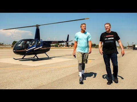 QB Jared Goff Gets Surprise Heli Ride Over Future Football Stadium