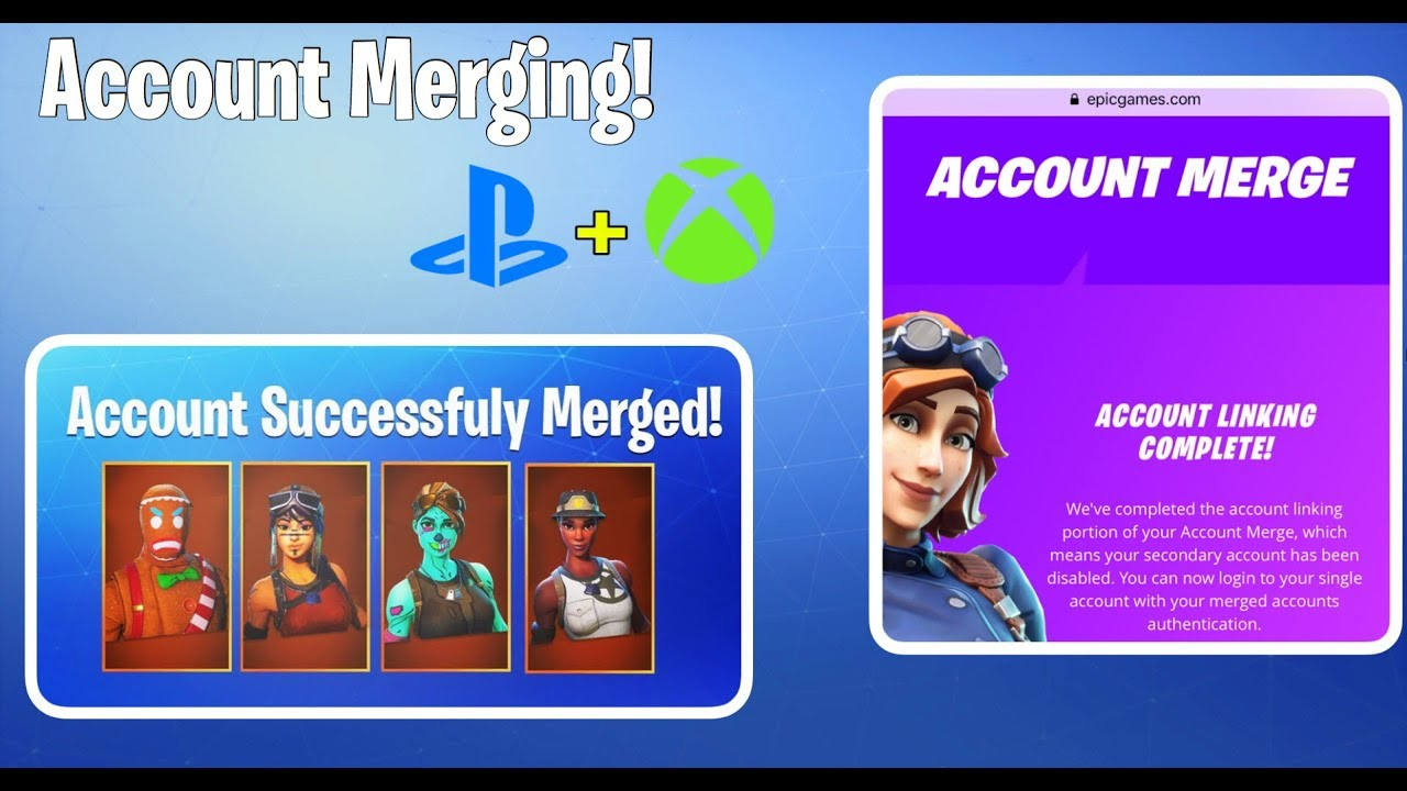 Accout Merging Finally Out | How To Merge Accounts In Fortnite