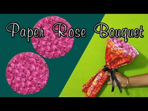 DIY Paper Rose Bouquet #FUNWITHCRAFT(FWCM)