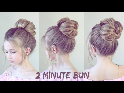 (2021) Easy Two Minute Bun!! - SweetHearts Hair