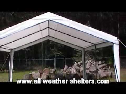 & Outdoor garden party canopy installation - easy up assembly - YouTube