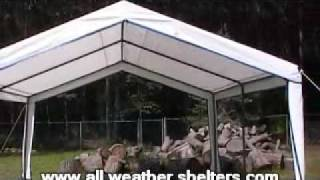 Outdoor garden party canopy installation - easy up assembly
