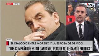 Bullrich y Majul analizan el audio entre Moreno y la esposa de Julio de Vido