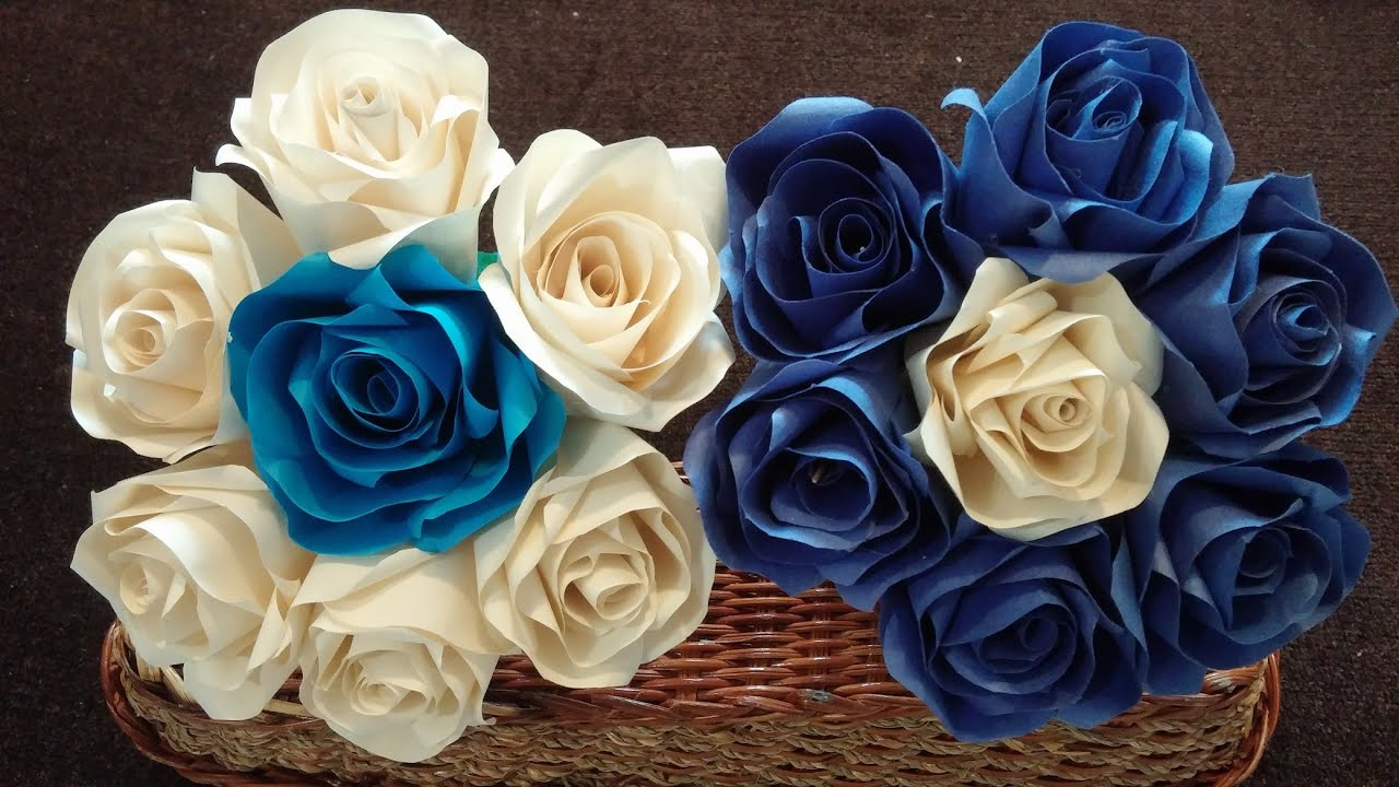 wedding paper flowers paper roses bouquet 9840