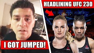 Nick Diaz got jumped in street fight; Dana White stripping DC of 1 title; Shevchenko vs Eubanks
