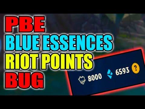 PBE FREE BLUE ESSENCES AND RP BUG - League of Legends