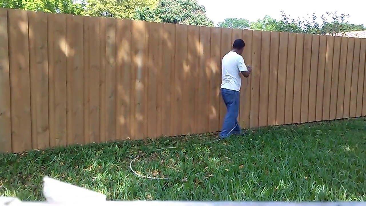 wood fence painting youtube