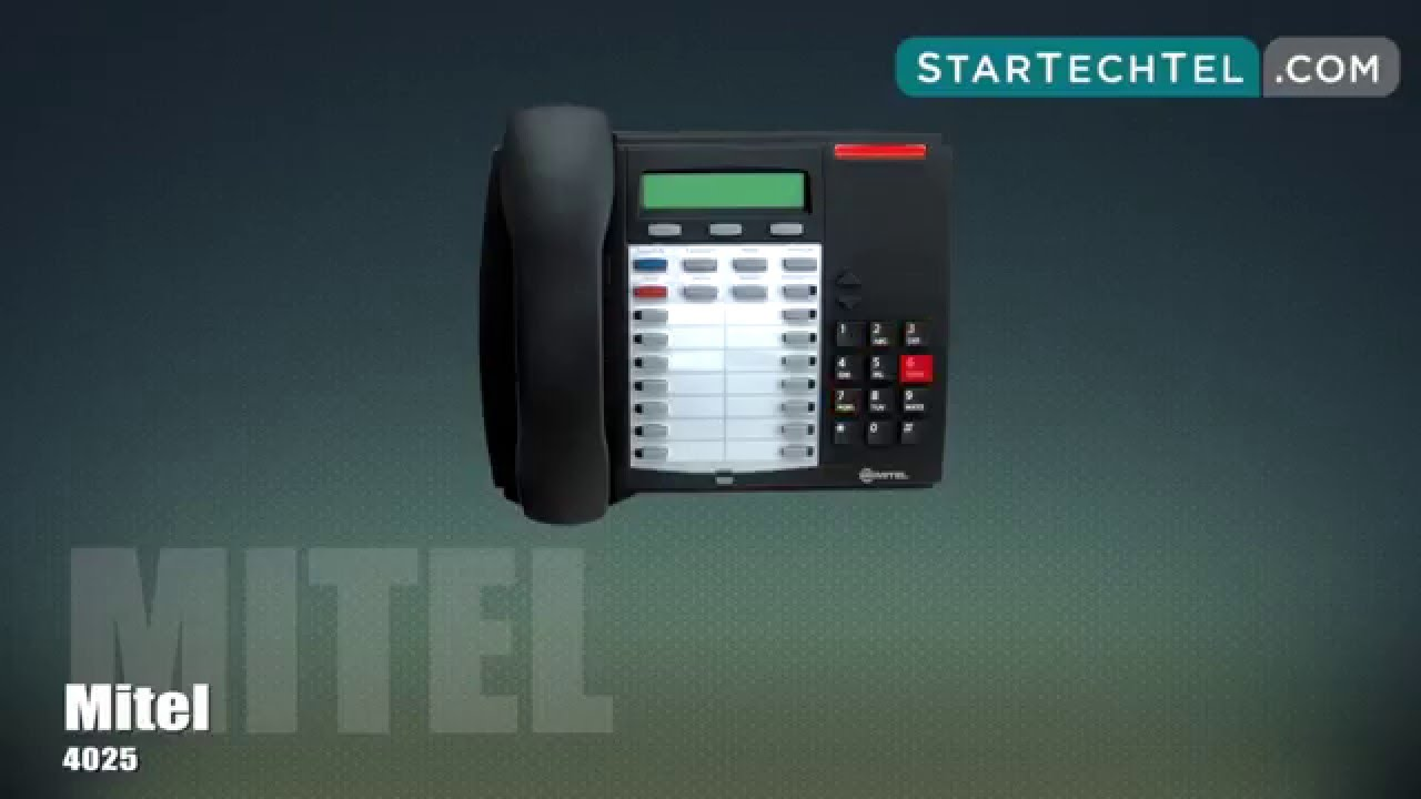 How To Make & Split A Conference Call On The Mitel 4025 Phone