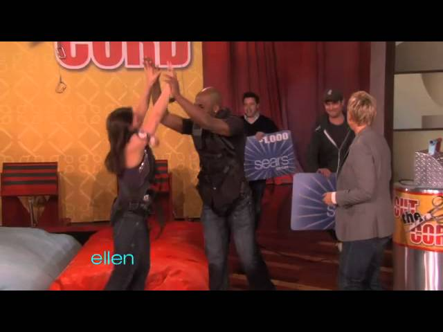 Ellen Plays Around with Her Producer, Andy