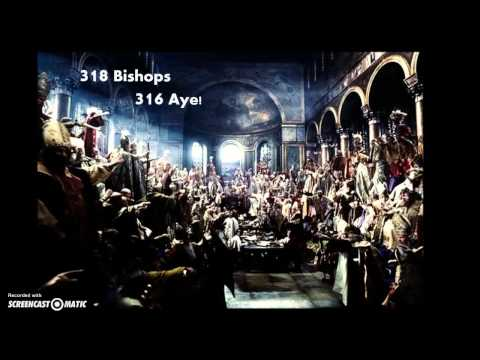 Council of Nicea in 3 1/2 minutes