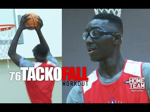 76 Tacko Fall Workout Tallest Player In College