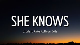 """j. cole - she knows (lyrics) """"i am so much happier now that I'm dead"""" [tiktok song]"""