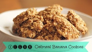 Diy Banana Oatmeal Cookies | Vegan Cookies
