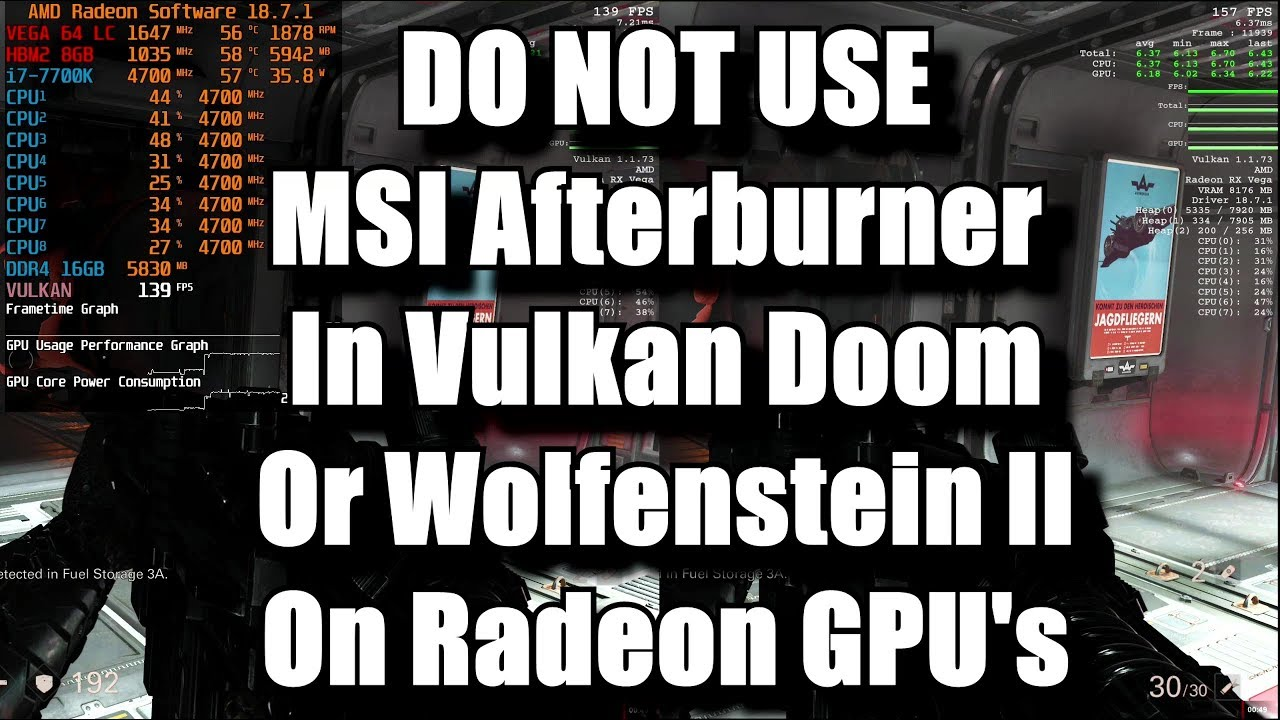DO NOT USE: MSI Afterburner to Benchmark Vulkan Doom or