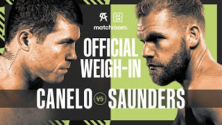 Canelo Alvarez vs Billy Joe Saunders weigh-in
