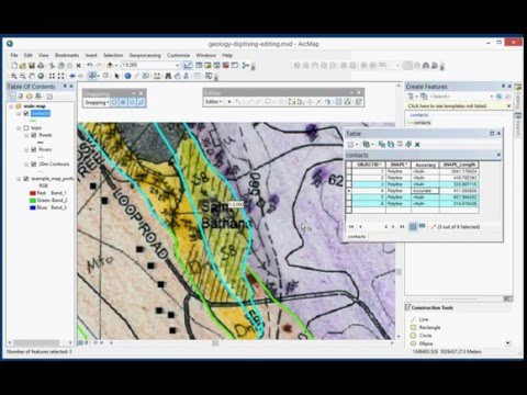 Digitising a Geological map in ArcGIS Desktop 10.3 (Part 2 of 4)