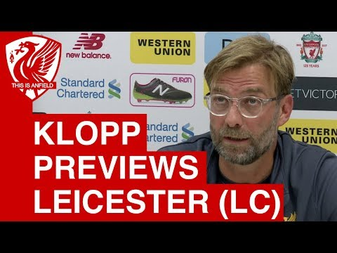 Jurgen Klopp pre-match press conference: Leicester City (A) League Cup 3rd Round
