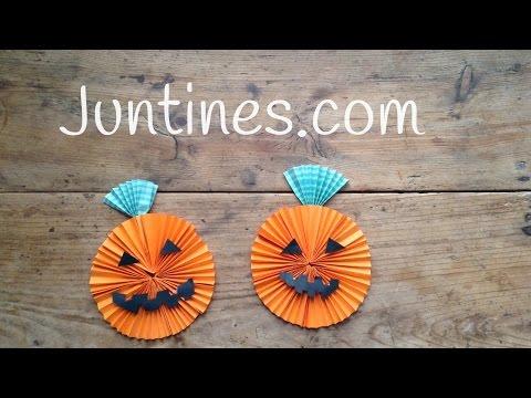 Adorno para Halloween: Calabaza de origami
