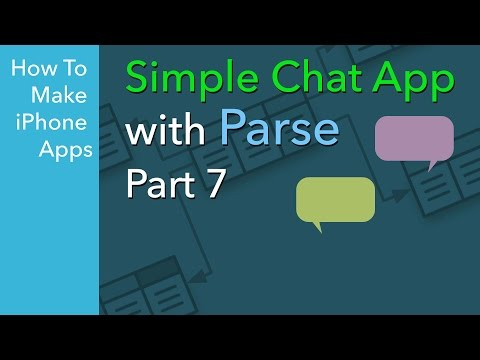 How To Build A Simple IOS Chat App - Ep 7 - Saving Data To Parse Backend