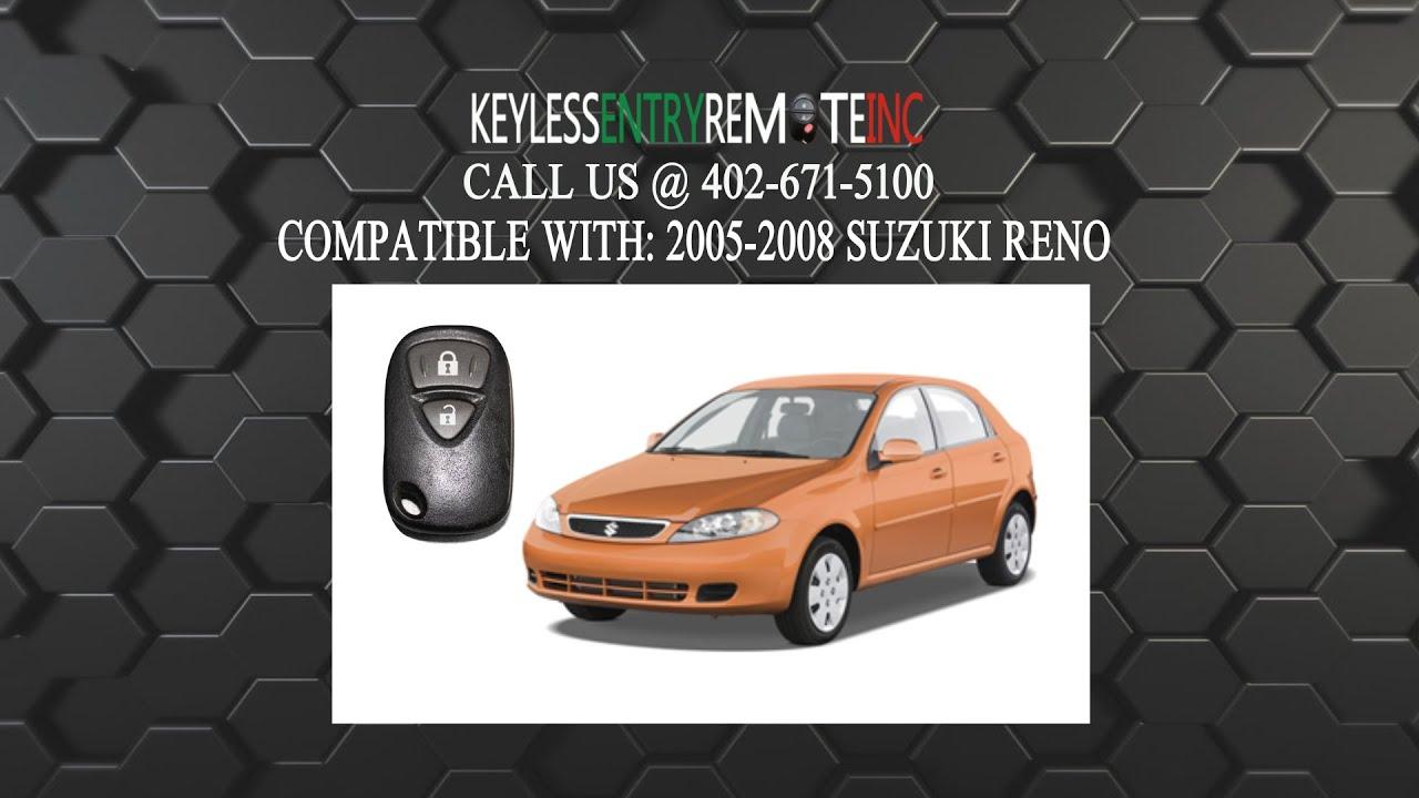 how to replace suzuki reno key fob battery 2005 2006 2007 2008
