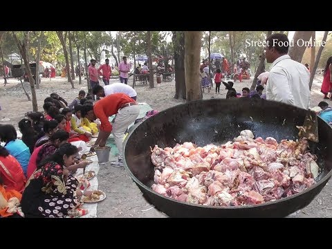 Full Chicken Biryani Preparation for 200 Students|Exciting Outdoor Food Enjoyment|Street Food Online