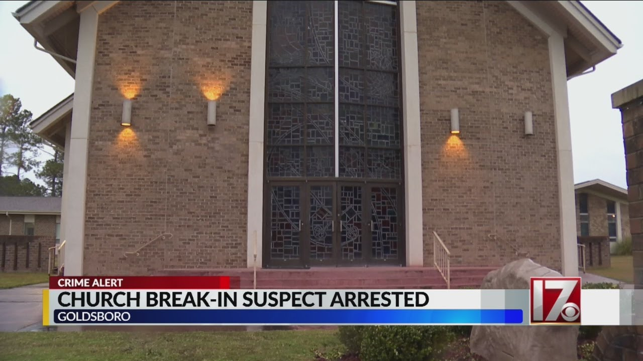 Suspect arrested in several Goldsboro-area church break-ins, officials say