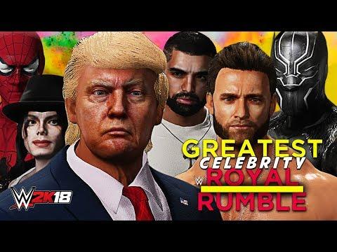 WWE 2K18 - GREATEST CELEBRITY ROYAL RUMBLE!! (Full 30-Man Rumble Match!)