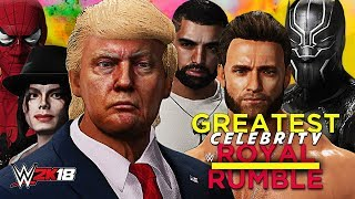 WWE 2K18 - GREATEST CELEBRITY ROYAL RUMBLE!! (Full 30-Man Rumble Match!)