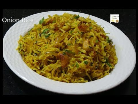 Onion Rice - Easy Lunch Box Recipe