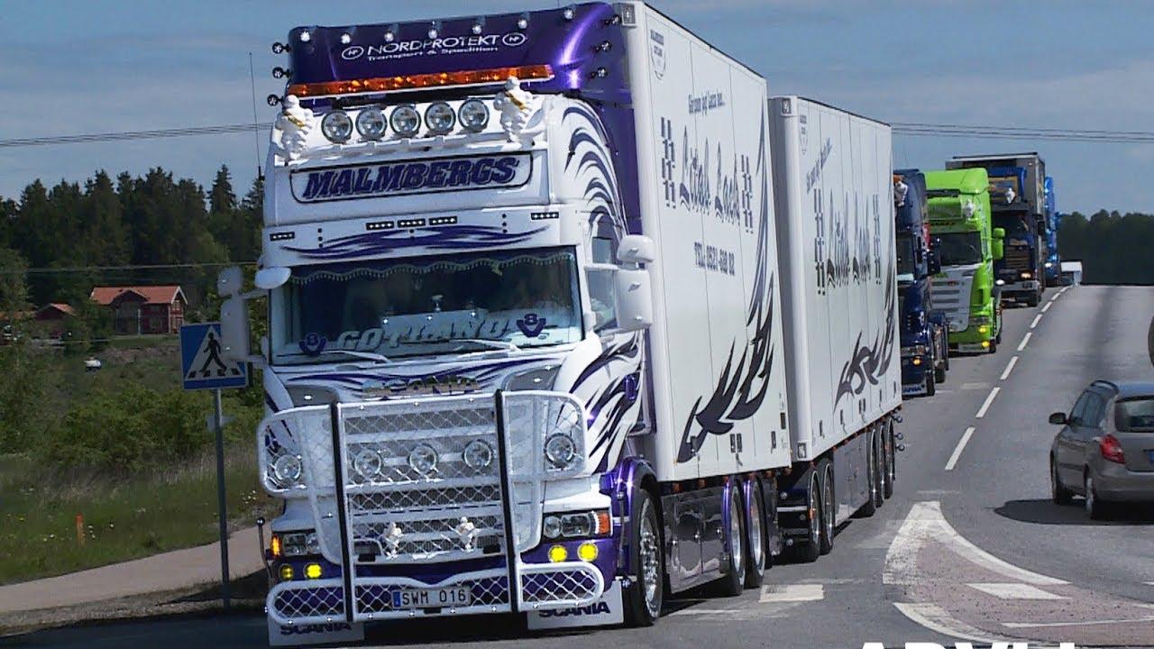 Malmbergs - Scania V8 - Strängnäs Truck Meet - YouTube