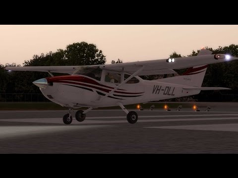 Aircraft lights usage - using the A2A Cessna C182 - KRDD Redding Municipal