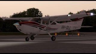 Aircraft lights usage - using the A2A Cessna C182 - KRDD Redding Municipal