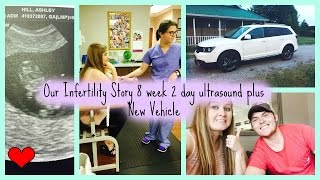 our infertility story 8 week 2 day ultrasound