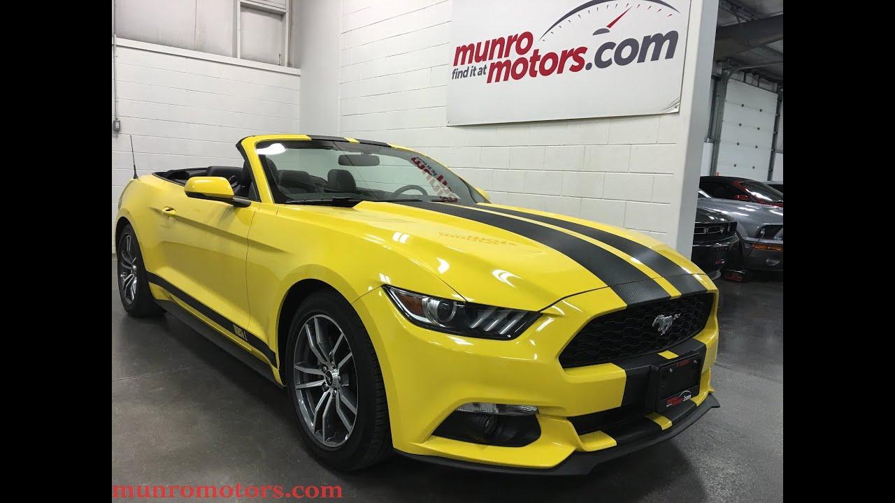 2015 ford mustang sold ecoboost premium convertible yellow munro motors