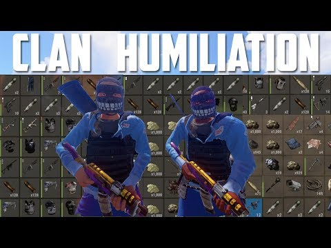 RUST | CLAN HUMILIATION (+Raiding & PvP Highlights) - EASY LOOT